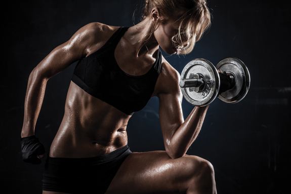 fitness woman perspiration